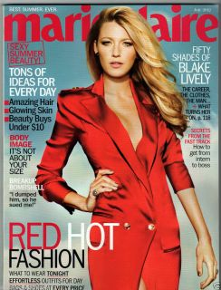 MARIE CLAIRE JULY 2012 FIFTY SHADES BLAKE LIVELY RED HOT FASHION NAIL