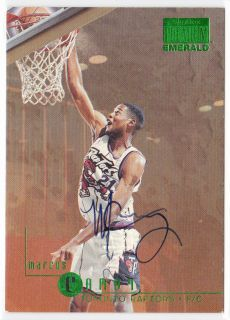 1996 96 97 Skybox Emerald on Card Auto Marcus Camby