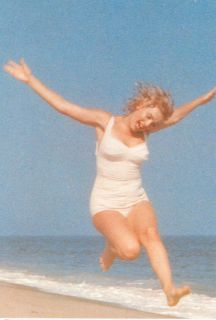 Marilyn Monroe A Sexy White Bathing Suit Postcard 63