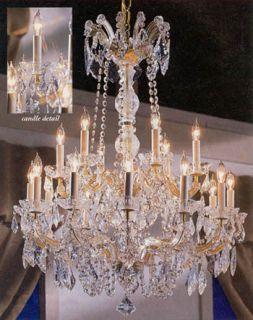 Maria Theresa CRYSTAL Chandeliers Lighting 30X28 FIXTURE PENDANT
