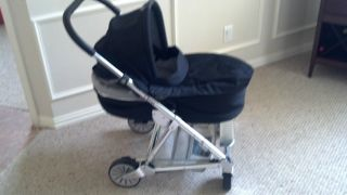 Mamas Papas Urbo Stroller Black with Graco Car Seat Adapter