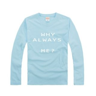 Why Always Me?Mario Balotelli Mens Blue Long Sleeve T Shirt Football