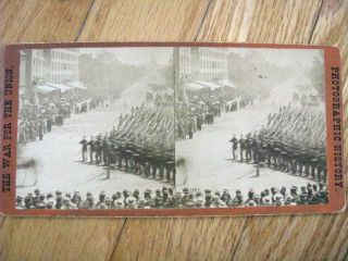 Grand Review Shermans Army Washington DC Civil War 1865 Stereoview