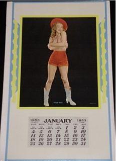Marilyn Monroe Calendar Caught Short 1953 Champion Golden Dreams Pinup