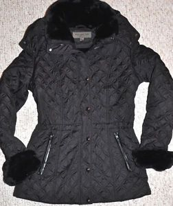 Andrew Marc New York Quilted Coat Jacket New Black L