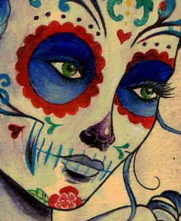 Marie Antoinette Dia de los Muertos Day of the Dead Sugar Skull Tattoo