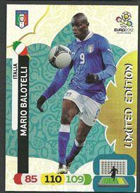 Euro 2012 Adrenalyn XL Mario Balotelli Italy Italia Limited Edition