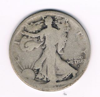 Walking Liberty Half Dollar w Obverse Mint Mark G Nice Coin Look