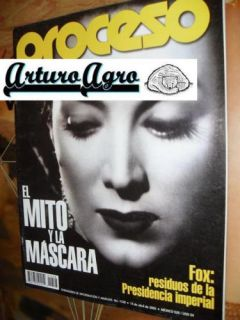 Maria Felix Proceso Mexican Magazine 2002 Read Condition