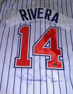Yankees Mariano Rivera Autographed ROOKIE Greensboro Hornets Jersey