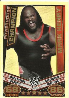 WWE Slam Attax Rebellion Mark Henry Champion Foil Trading Card Mint