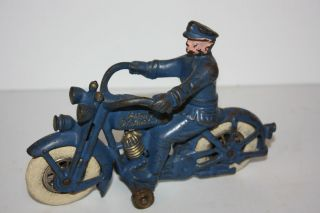 Hubley Swivel Head Harley Davidson Cop Cycle Made in U s A in 1930S