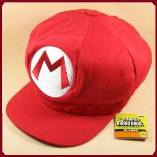 Super Mario Bros Anime Cosplay Mario M Hat Red Cap Tag