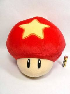 Large Super Mario Galaxy Mushroom Plush Doll