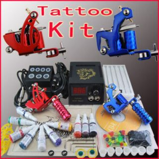 Tatuaje Kit 2 New Maquinas 10 Tintas Tattoo Tatuar A073