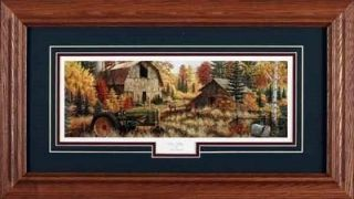 Mark Daehlin Deer Valley John Deere Framed Print 23 x 13