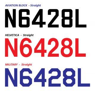 Numbers Aircraft Markings FAA Airplane Numbers 3 N Numbers Vinyl