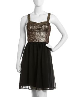 Marc New York by Andrew Marc Jacquard Bodice Combo Dress