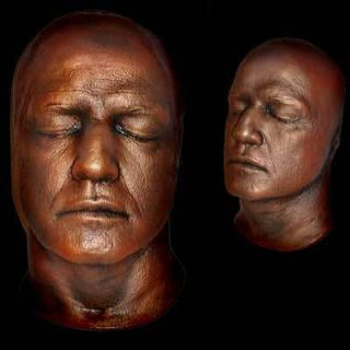 MARLON BRANDO Life Mask from The Godfather Life Cast Light Weight Gold