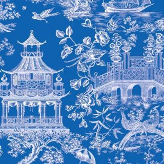 Caspari 2 5 Rolls Blue Chinoiserie Toile Gift Wrap Wrapping Paper