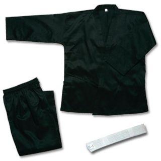 Martial Arts Karate Taekwondo Juno Medium Weight Uniform Black Size 4