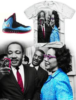 Martin Luther King T Shirt Air Max Hyperposite Foamposite Hyperdunk