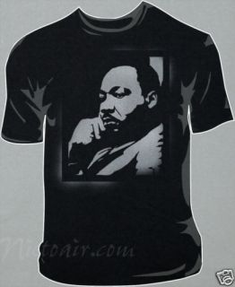 Martin Luther King Jr Airbrush Stencil Shirt Airbrushed