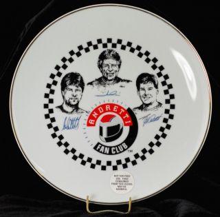 Mario Andretti Fan Club Collectors Plate