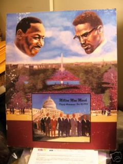 RARE 1995 Martin Luther King Million Man March Poster