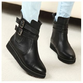 New Retro Short Flat Ankle Martin Boots Shoes OL Women Lady Girl