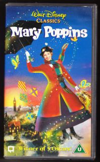 Mary Poppins Disney Classic VHS PAL Original Film