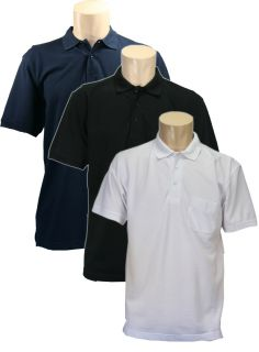 Clique Evans Pocketed Polo Shirt by Cutter Buck Mens Small Black