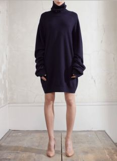 Martin Margiela] OVERSIZED CASHMERE SWEATER DRESS  Navy Blue  S