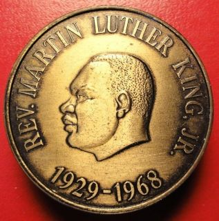 Rev Martin Luther King Jr Nonviolence 1968 Medal Coin