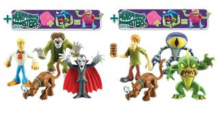 Scooby Doo Morphing Monsters 4 Figure Pack Morphing Monster New 2012