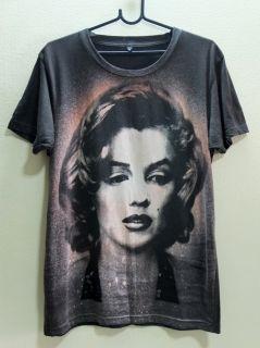Marilyn Monroe Acid Bleach Icon Movie Star Pop T Shirt M