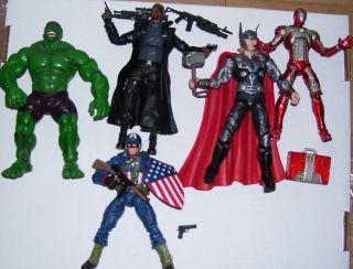 Marvel figures Avengers ironman hulk fury captain america thor legends