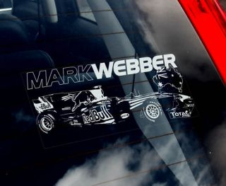 Mark Webber Formula 1 Car Sticker F1 Red Bull Racing