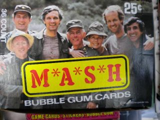 Mash TV Show Vintage Full Cards Box 1985