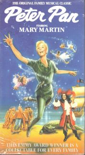 Peter Pan VHS 1990 Mary Martin NBC Live Stage Version