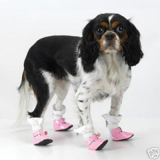 Dog s Patent Leather Mary Janes Boots Small