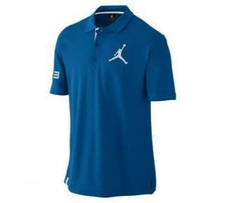 NEW Mens Nike AIR JORDAN JUMPMAN Polo Shirt Blue NWT Size LARGE 458779