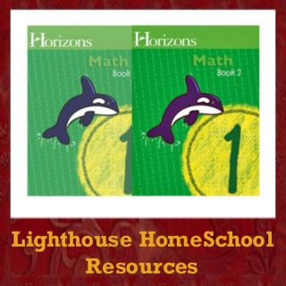 Alpha Omega Horizons Math Grade 1 Book 1 2 1st New