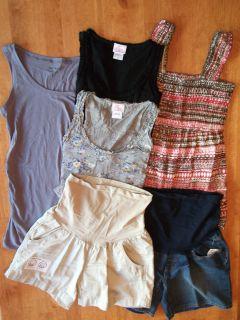 Summer Maternity Clothes Lot Size s Small 4 Shirts 2 Shorts $178 Gap