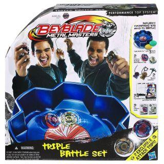 Beyblade Metal Masters Triple Battle Stadium Set Galaxy Pegasus Meteo