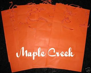 Orange Matte Paper Gift Bag Set of 12 Wholesale Price
