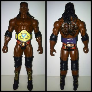 WWE Mattel Booker T Custom WCW Tag Title Belt Wrestling Action Figure