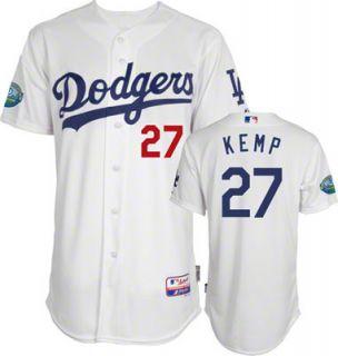 Matt Kemp Los Angeles Dodgers Cool Base White Jersey Size 52 Stitched