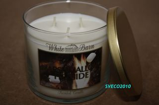 Bath Body Works White Barn Marshmallow Fireside 3 Wick Candle 14 5 oz