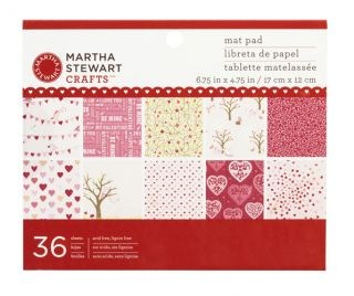 Stewart Crafts Valentines Day Mat Paper Pad Enchanted Woodland
